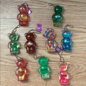 Squishy bear keychain
